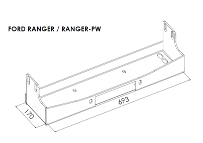 Ford Ranger - Winch Mounting Plates