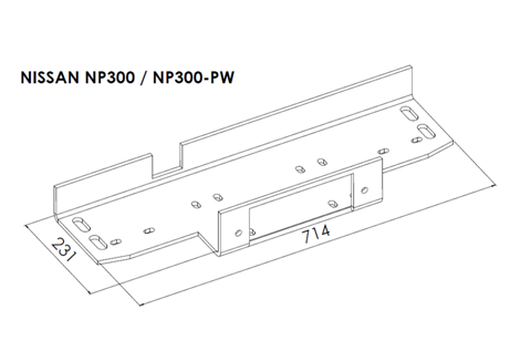 Nissan NP300 - Winch Mounting Plates