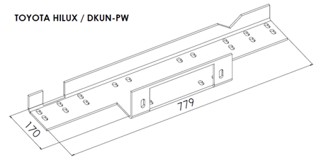 Toyota Hilux - Winch Mounting Plates