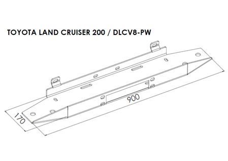 Toyota Land Cruiser 200 - Winch Mounting Plates